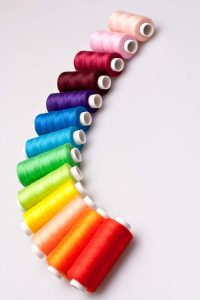 Colorful Serger Thread