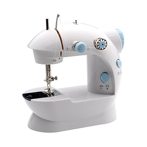 2-Speed Double Thread with Foot Pedal Switch for Multi-Purpose Crafting Mending Portable Sewing Machine for Beginners /& Professionals ISTOYO 0307 Mini Sewing Machine